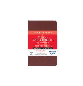 "Alpha Series, 3 1/2 x 5 1/2"", Softcover #101350P Stillman & Birn Softcover Mixed Media Sketchbook, Portrait"