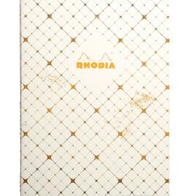 """Rhodia - Heritage Collection - Book Block Spine - Graph - 80 Sheets - 6 x 8 1/4"""" - Checkered"""