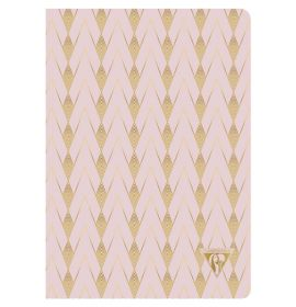 """#193436 Clairefontaine Neo Deco Collection, Sewn Spine, 6 x 8 1/4"""", Lined, """"Powder Pink"""""""