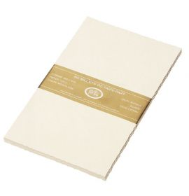 #265/55 G. Lalo Open Stock French Wedding Invitation Sheets 7-1/2 X 12 Deckle edge Antique White 50 cards