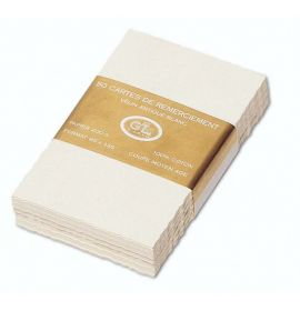 #269/55 G. Lalo Open Stock French Wedding Direction Cards 4 x 5 ½ Deckle edge Antique White 50 cards