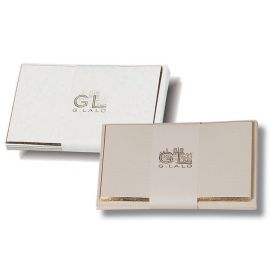 #496/00 G. Lalo Open Stock French Wedding Card & Envelope 3 ½ x 5 ¼ Bevel-Edged White 5 x 5
