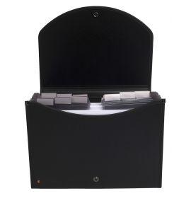 #55934 Exacompta Exactive Filing Multipart Case 13 ¼ x 10 ¼ Black