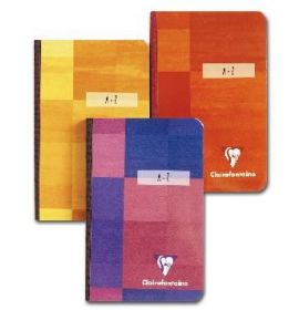 #69147 Clairefontaine Clothbound Address Book 8 ¼ x 11 ¾ A-Z lined Assorted Covers 96 sheets