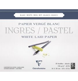 """Clairefontaine - Ingres Pastel Paper - 130g - Glued Pad - 25 Sheets - 9 1/2 x 12"""""""