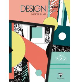 """Clairefontaine - Design Books - 12 Sheets - 11 3/4 x 11 3/4"""" - Home Book"""