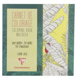 #97502 Clairefontaine Coloring Books for Grown Ups 7 7/8 x 7 7/8 - Flowers