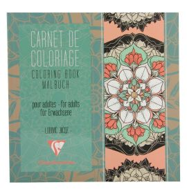 #97503 Clairefontaine Coloring Books for Grown Ups 7 7/8 x 7 7/8 - Mandala
