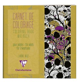 #97508 Clairefontaine Coloring Books for Grown Ups 7 7/8 x 7 7/8 - Designs