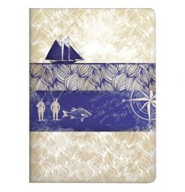 #99763 Clairefontaine Maritime Collection Maritime Staplebound Notebooks 5 ¾ x 8 ¼