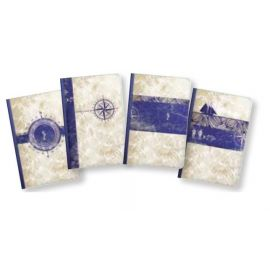 #99765 Clairefontaine Maritime Collection Cloth Notebooks 3 ½ x 5 ½ 96 Sheets Lined