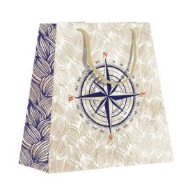 #99768 Clairefontaine Maritime Collection Eurotote Gift Paper Shopping Small Bag