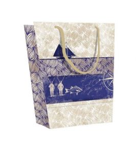 #99769 Clairefontaine Maritime Collection Eurotote Gift Paper Shopping Medium Bag