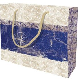 #99771 Clairefontaine Maritime Collection Eurotote Gift Paper Shopping Large Bag