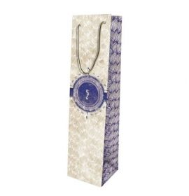 #99772 Clairefontaine Maritime Collection Eurotote Gift Paper Wine Bag 15 ¾ x 4 x 4
