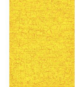 #C/297 Decopatch Yellow Crackle 3 sheets of 1 design Decoupage paper 11 3/4 x 15 3/4 3